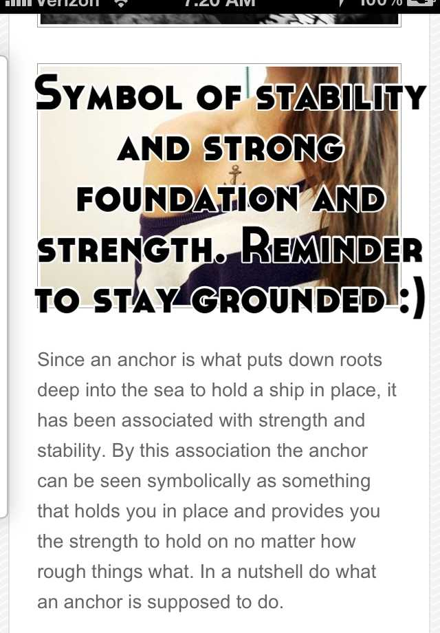 Symbol Of Stability And Strong Foundation And Strength Reminder To