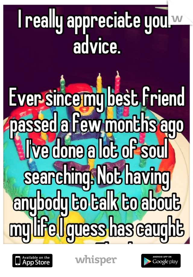 Advice for my best friend