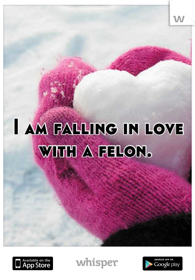 I am falling in love with a felon.