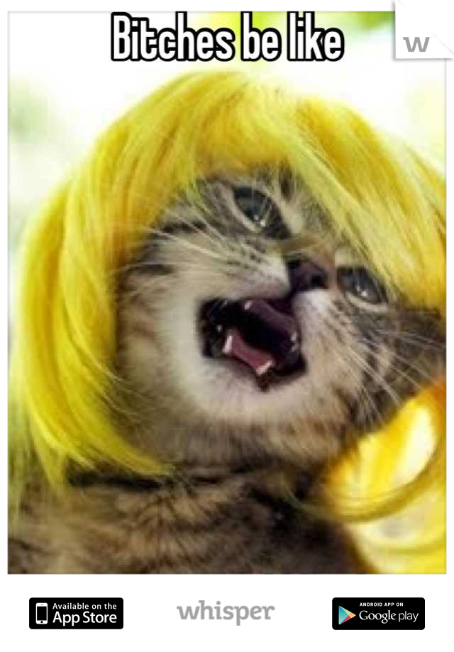 Bitches be like         I'm a natural blonde