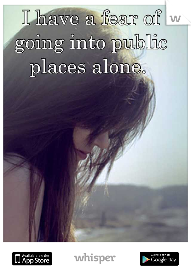 I have a fear of going into public places alone.