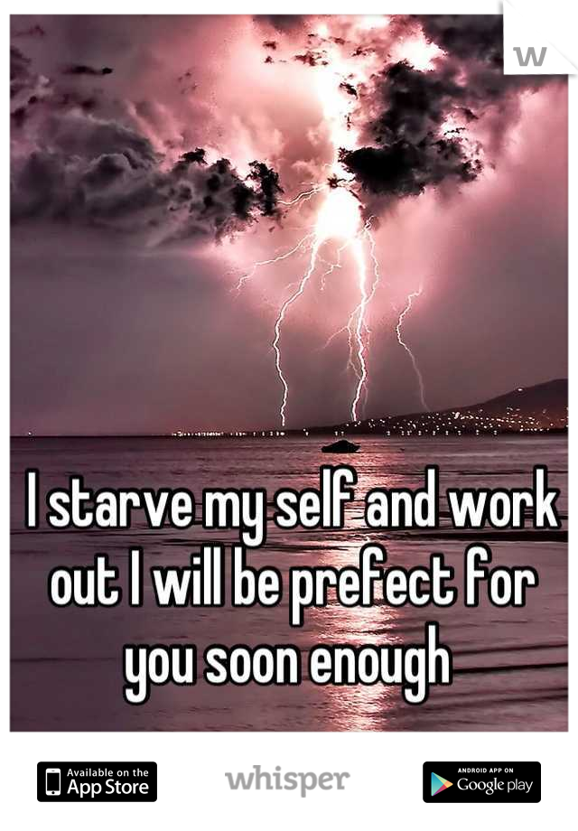 I starve my self and work out I will be prefect for you soon enough