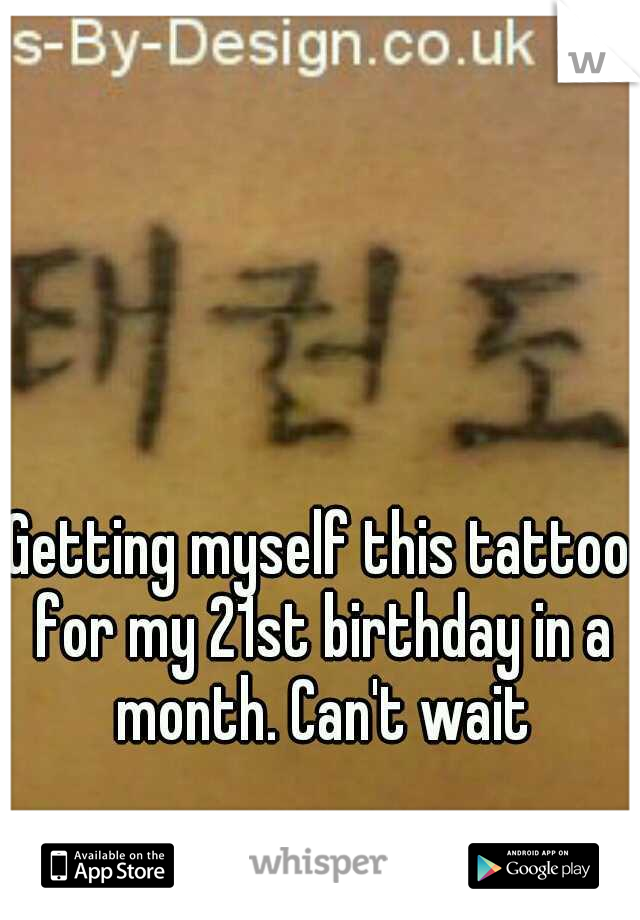 Getting myself this tattoo for my 21st birthday in a month. Can't wait