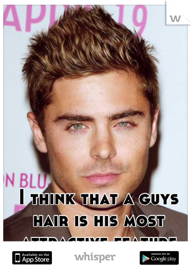 I think that a guys hair is his most attractive feature