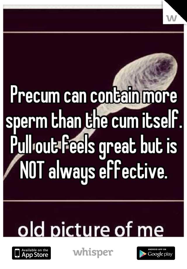 sperm precum Are in
