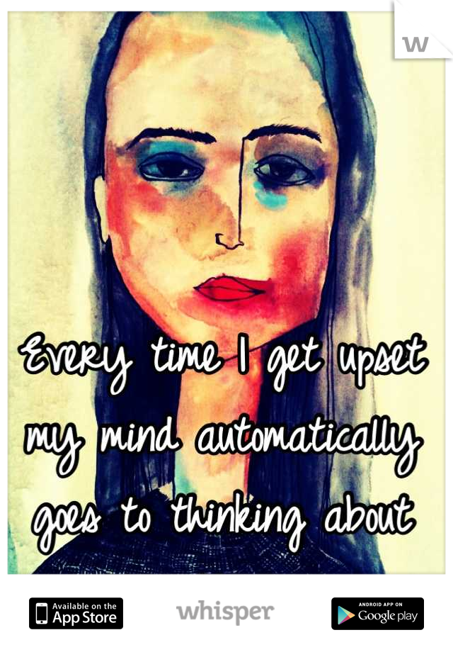 Every time I get upset my mind automatically goes to thinking about cutting.