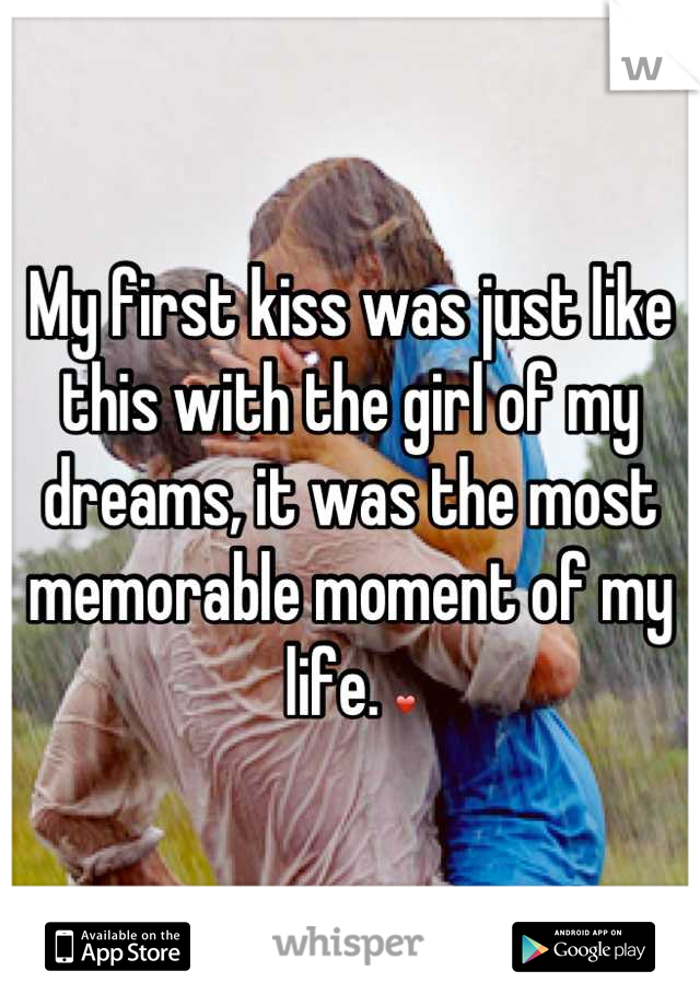 My first kiss was just like this with the girl of my dreams, it was the most memorable moment of my life. ❤