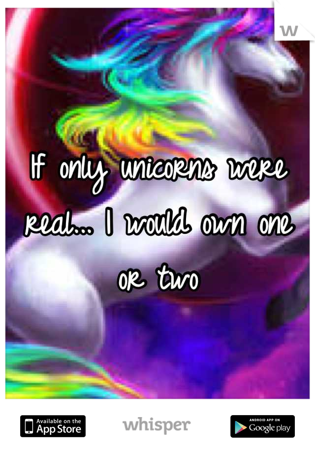 If only unicorns were real... I would own one or two