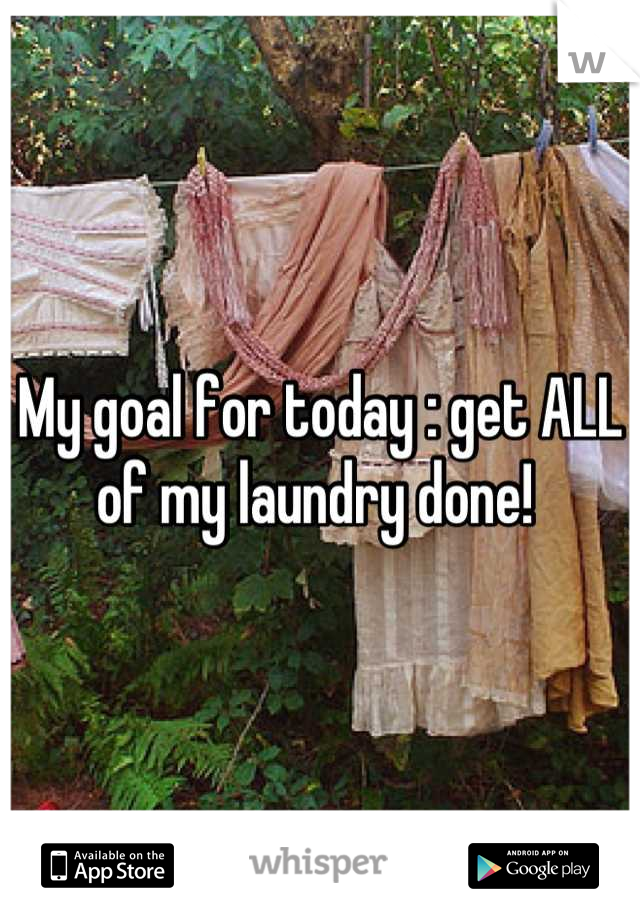 My goal for today : get ALL of my laundry done!