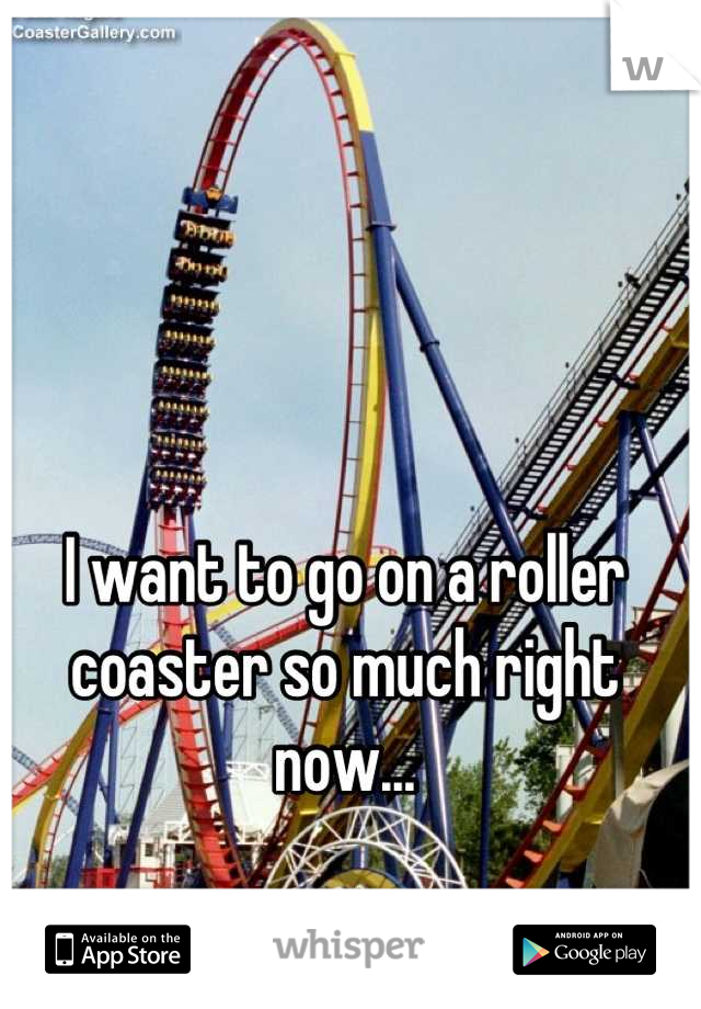I want to go on a roller coaster so much right now...