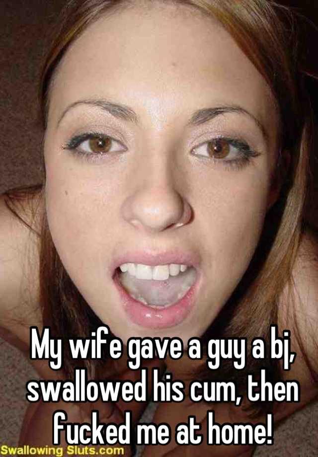 My wife swallowing my cum
