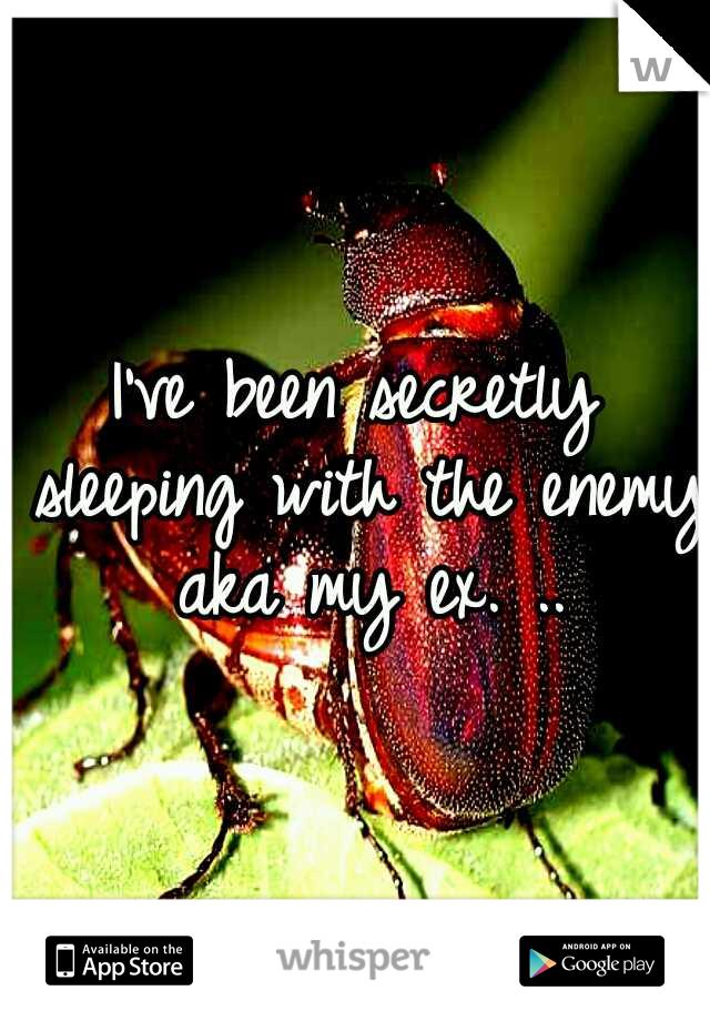 I've been secretly sleeping with the enemy aka my ex. ..