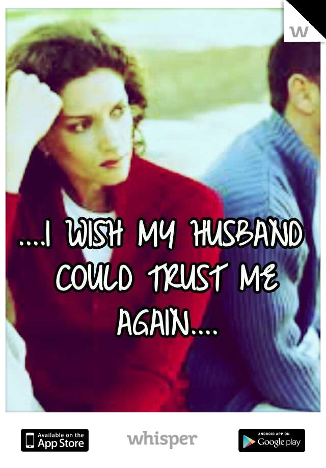 ....I WISH MY HUSBAND COULD TRUST ME AGAIN....