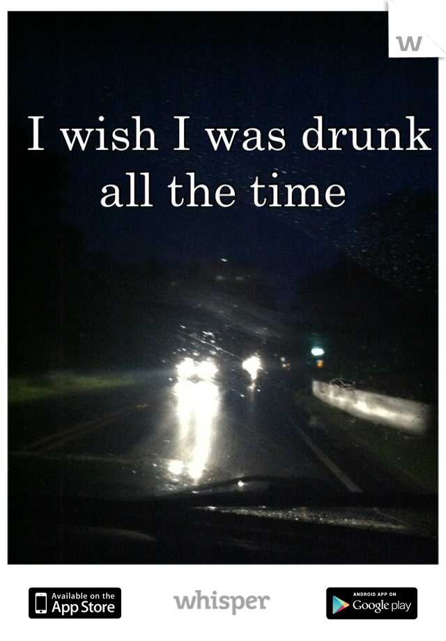 I wish I was drunk all the time