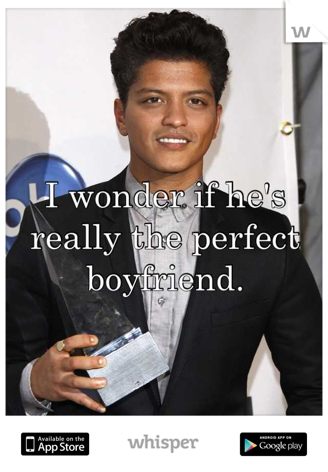 I wonder if he's really the perfect boyfriend.