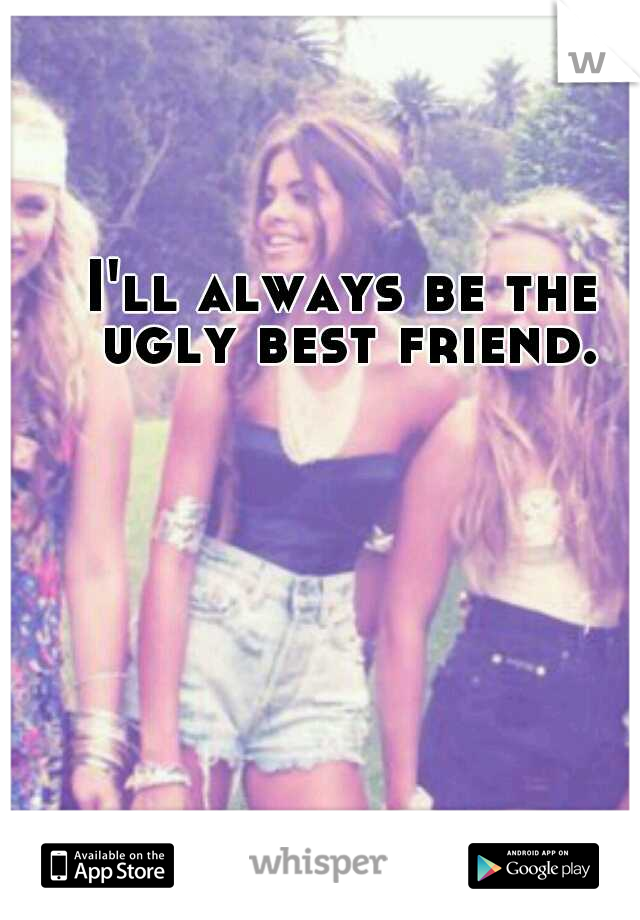 I'll always be the ugly best friend.