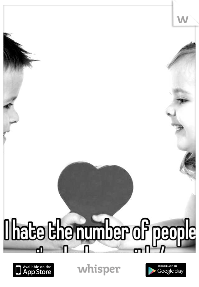 I hate the number of people i've had sex with:/