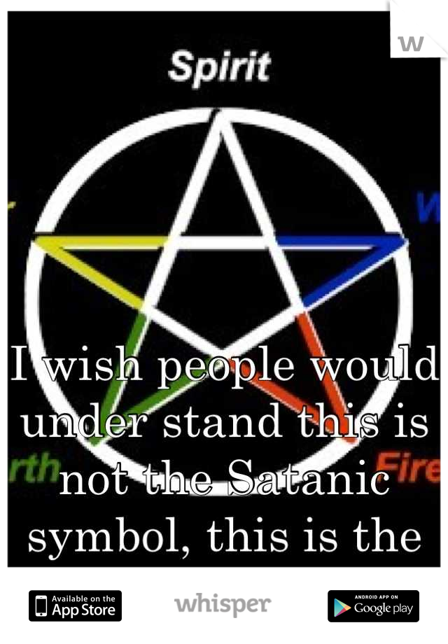 I wish people would under stand this is not the Satanic symbol, this is the Wiccan symbol!