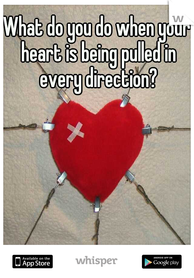 What do you do when your heart is being pulled in every direction?