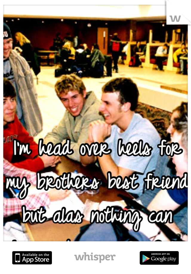 I'm head over heels for my brothers best friend but alas nothing can happen because BroCode