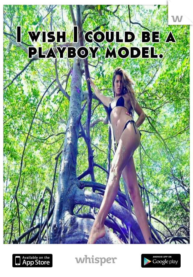 I wish I could be a playboy model.