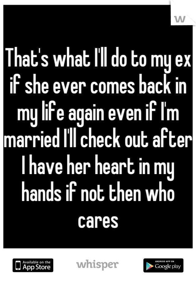will an ex ever come back