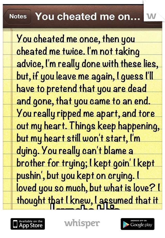 I wrote this. This is how I feel