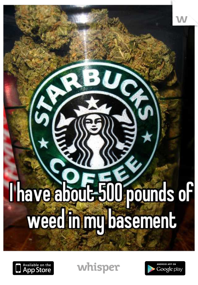 I have about 500 pounds of weed in my basement