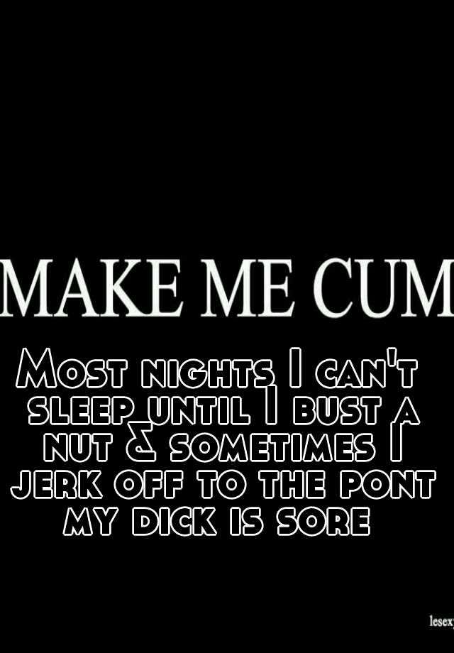 Jerking Until Nut Bust