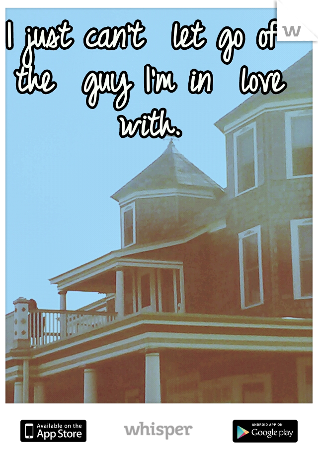 I just can't  let go of the  guy I'm in  love with.