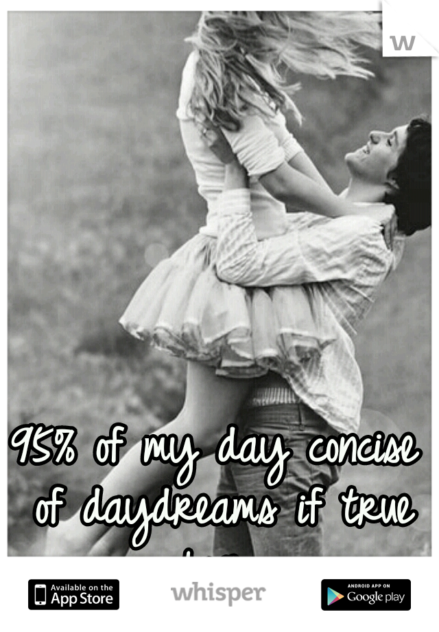 95% of my day concise of daydreams if true love