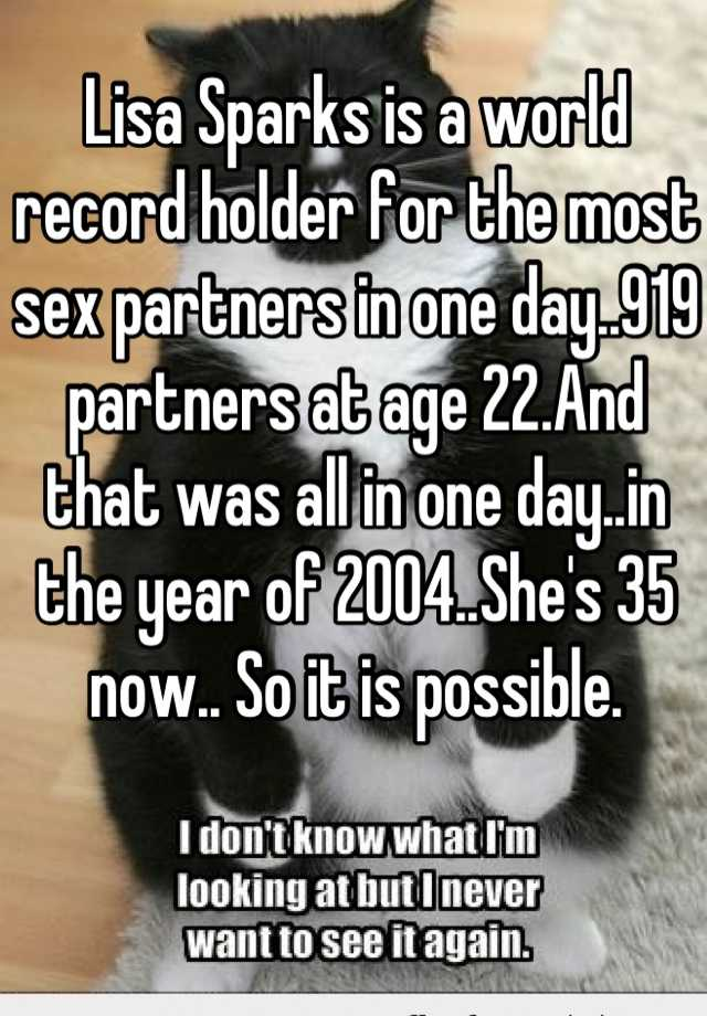 most sex record in a day