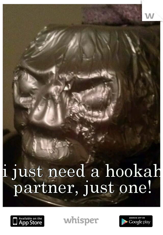 i just need a hookah partner, just one!