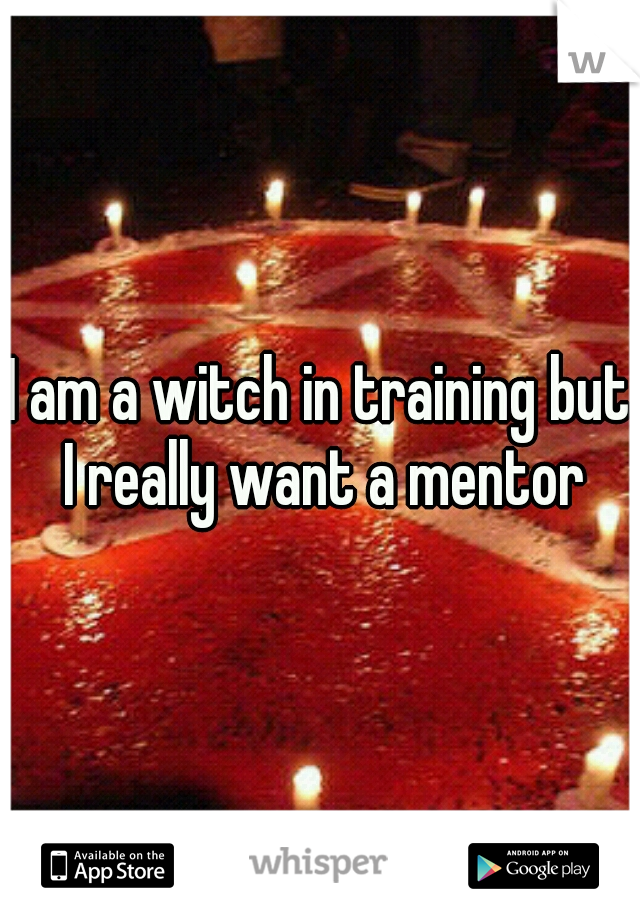 I am a witch in training but I really want a mentor