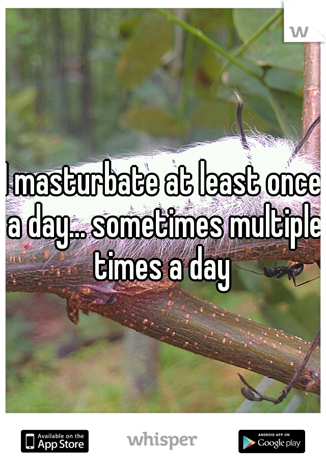 I masturbate at least once a day... sometimes multiple times a day
