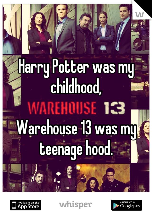 Harry Potter was my childhood,   Warehouse 13 was my teenage hood.