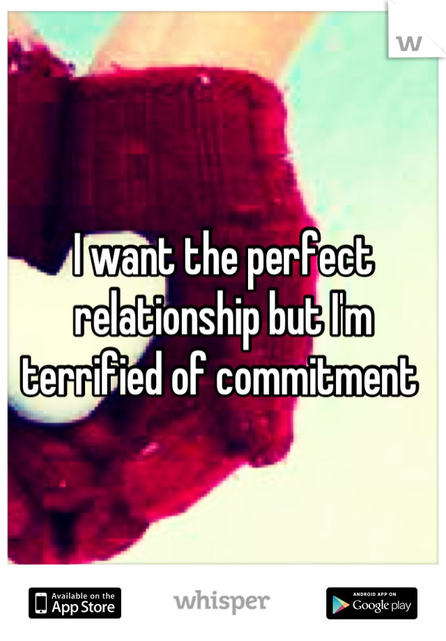 I want the perfect relationship but I'm terrified of commitment