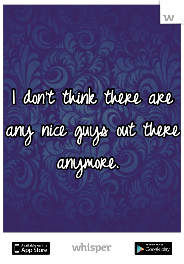 I don't think there are any nice guys out there anymore.