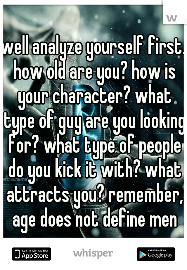 What type of guy are you looking for