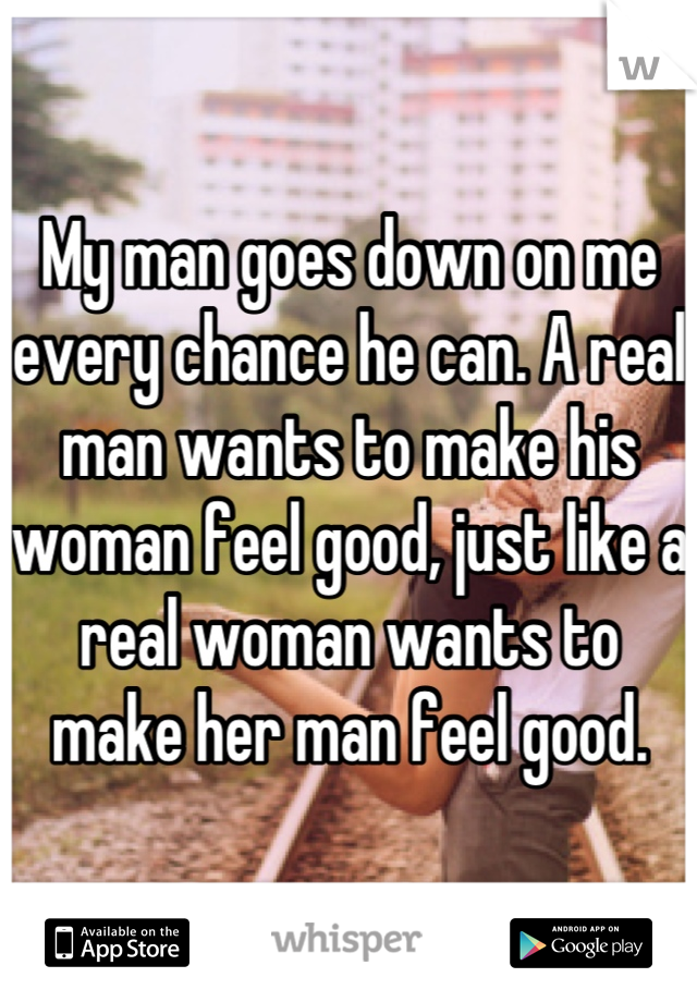 What a man wants from his woman
