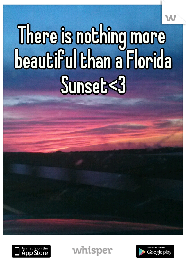 There is nothing more beautiful than a Florida Sunset<3