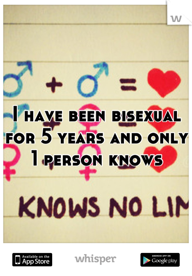 I have been bisexual for 5 years and only 1 person knows
