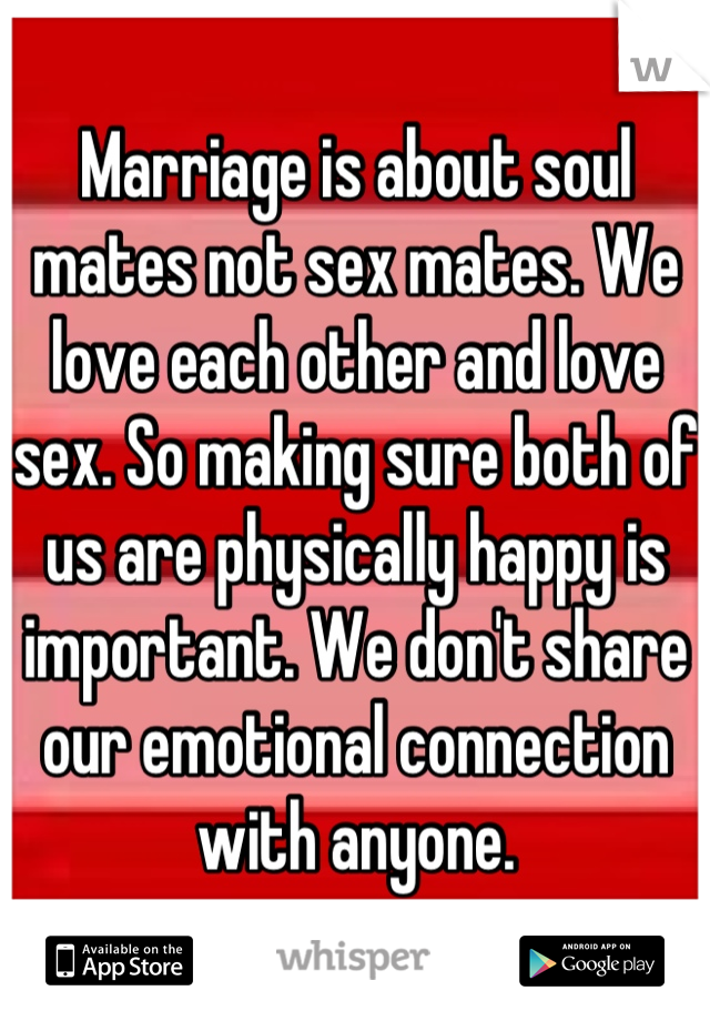 Why sex so important marriage
