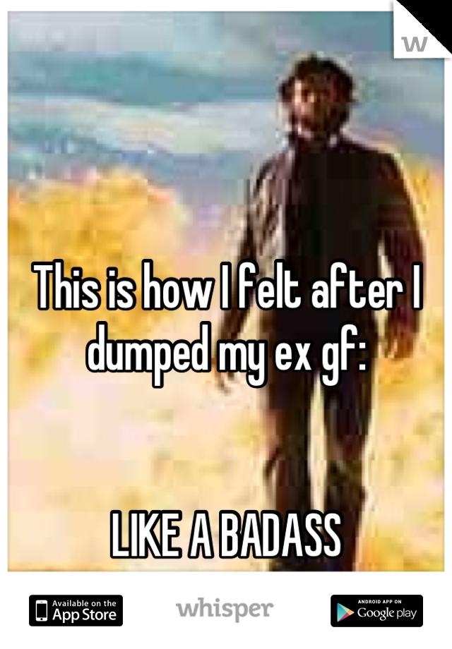 This is how I felt after I dumped my ex gf:   LIKE A BADASS