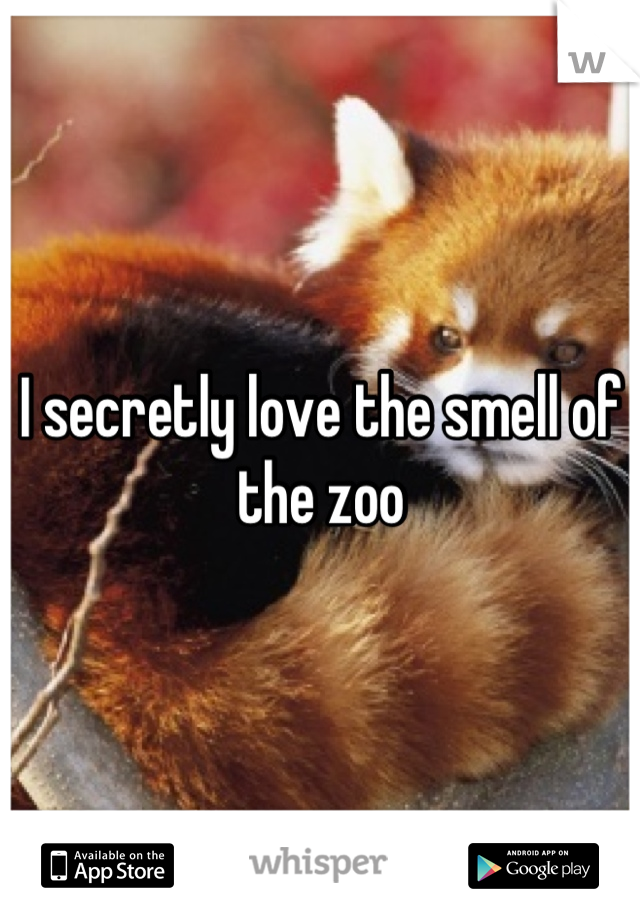 I secretly love the smell of the zoo