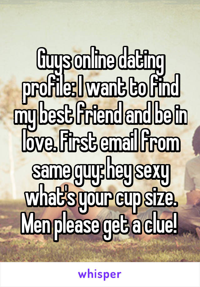 best first email internet dating
