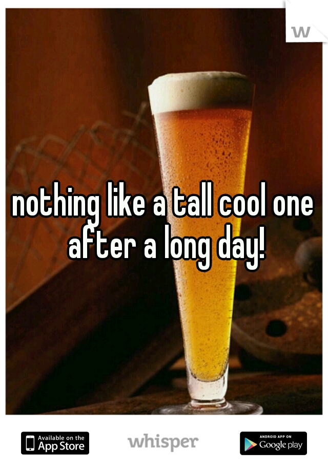 nothing like a tall cool one after a long day!
