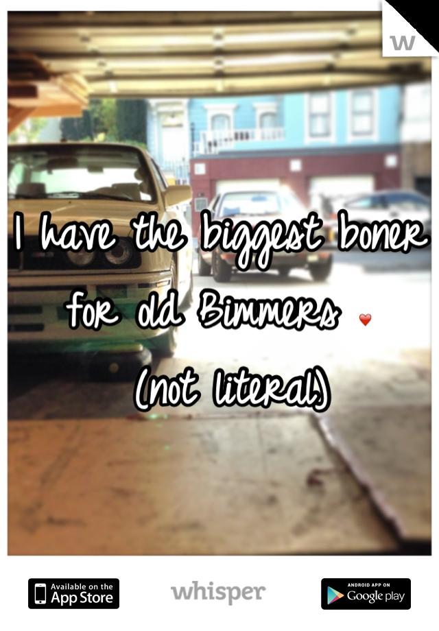 I have the biggest boner for old Bimmers ❤  (not literal)