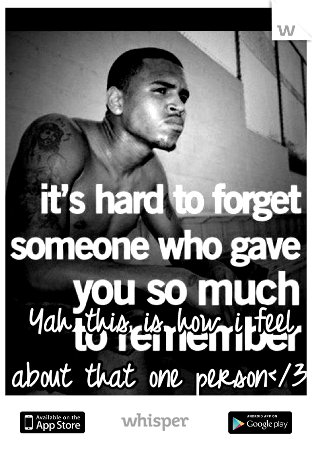 Yah this is how i feel about that one person</3