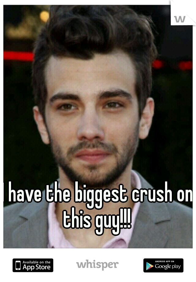 I have the biggest crush on this guy!!!